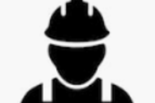 icon of a stylised builder