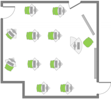 IT Learning Centre Cherwell room layout