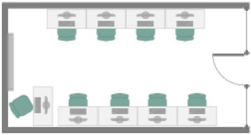 IT Learning Centre Ock room layout
